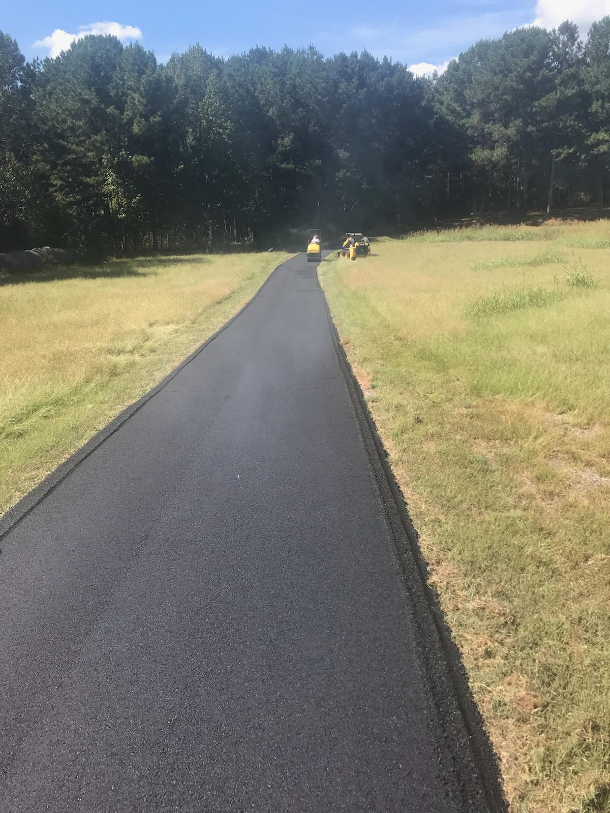 Private Road paved with Asphalt
